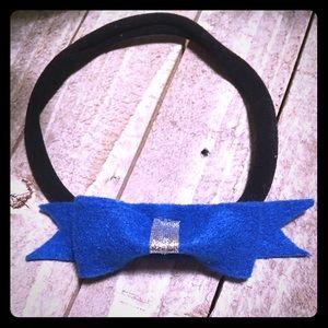 Other - Bright blue bow headband